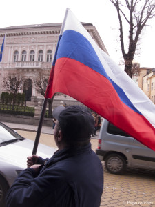 Russian flags in  Sofia 2  030314